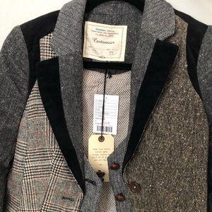 Anthropologie Cartonnier Tweed Patchwork Blazer